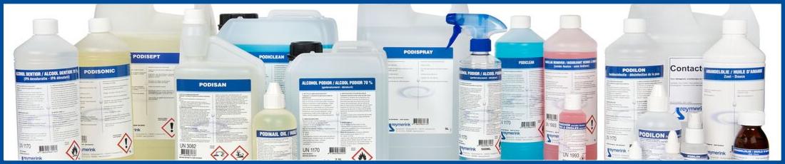 Vloeistoffen voor reiniging en desinfectie